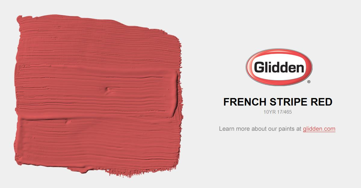 French Stripe Red Paint Color Glidden Paint Colors