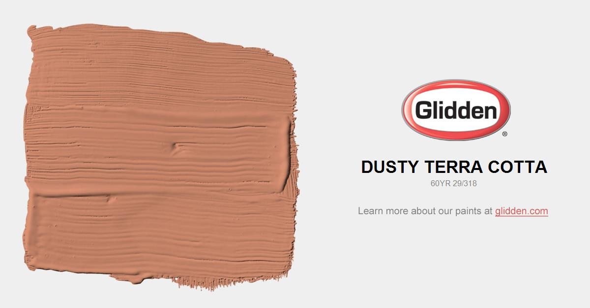 Dusty terra cotta paint color glidden paint colors for Paint colors that go with terracotta