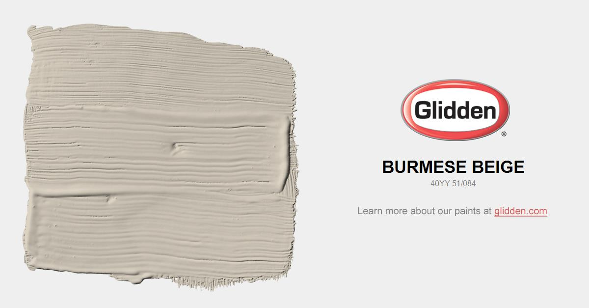 Burmese Beige Paint Color Glidden Paint Colors