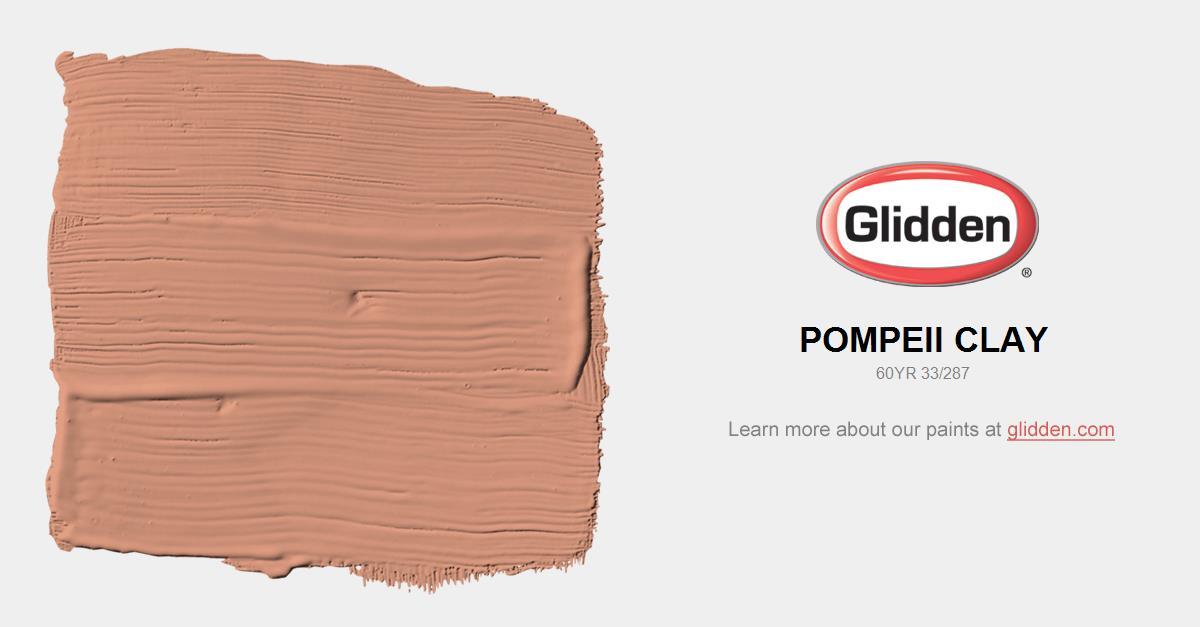 Pompeii Clay Paint Color Glidden Paint Colors