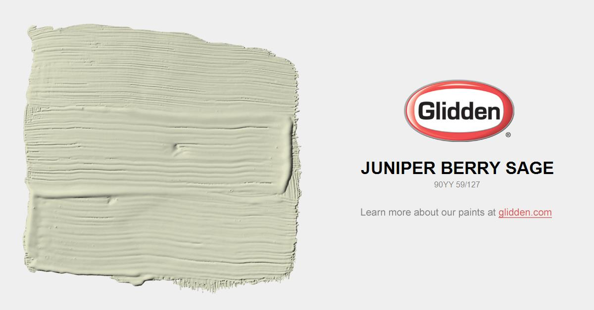 Juniper Berry Sage Paint Color Glidden Paint Colors