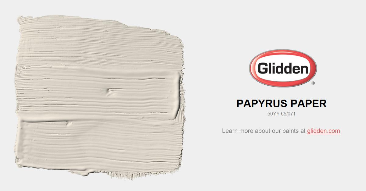 Papyrus Paper Paint Color Glidden Paint Colors