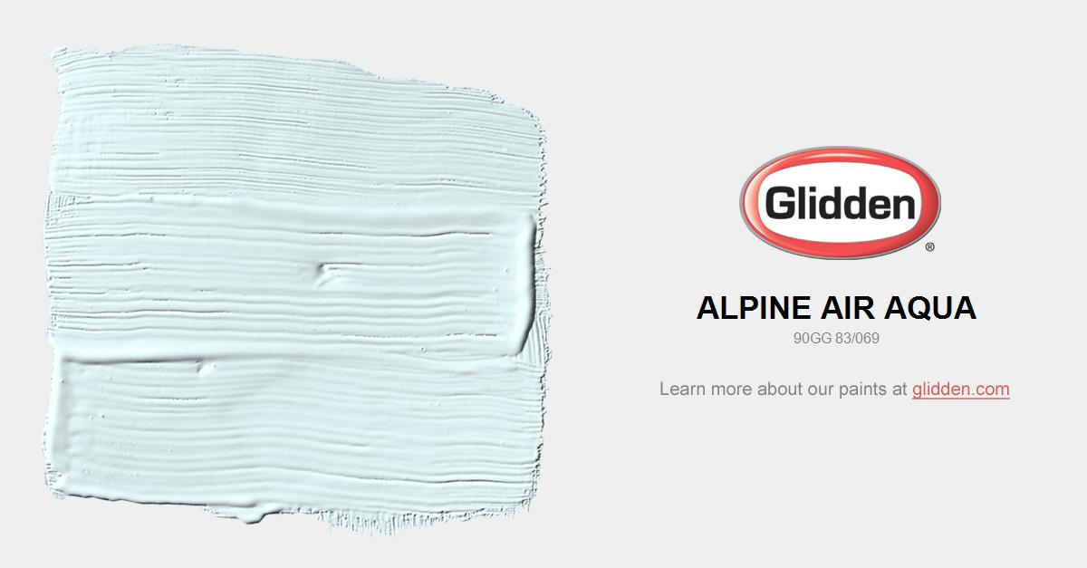 aqua paint colorAlpine Air Aqua Paint Color  Glidden Paint Colors
