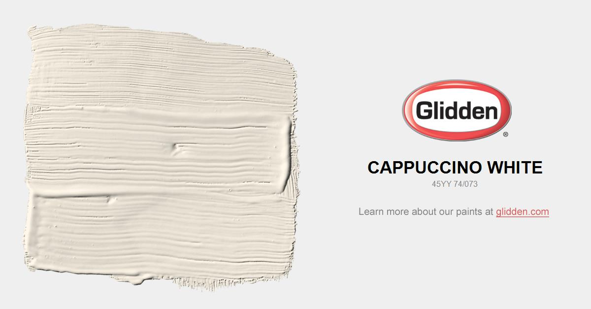 Cappuccino White Paint Color Glidden Paint Colors
