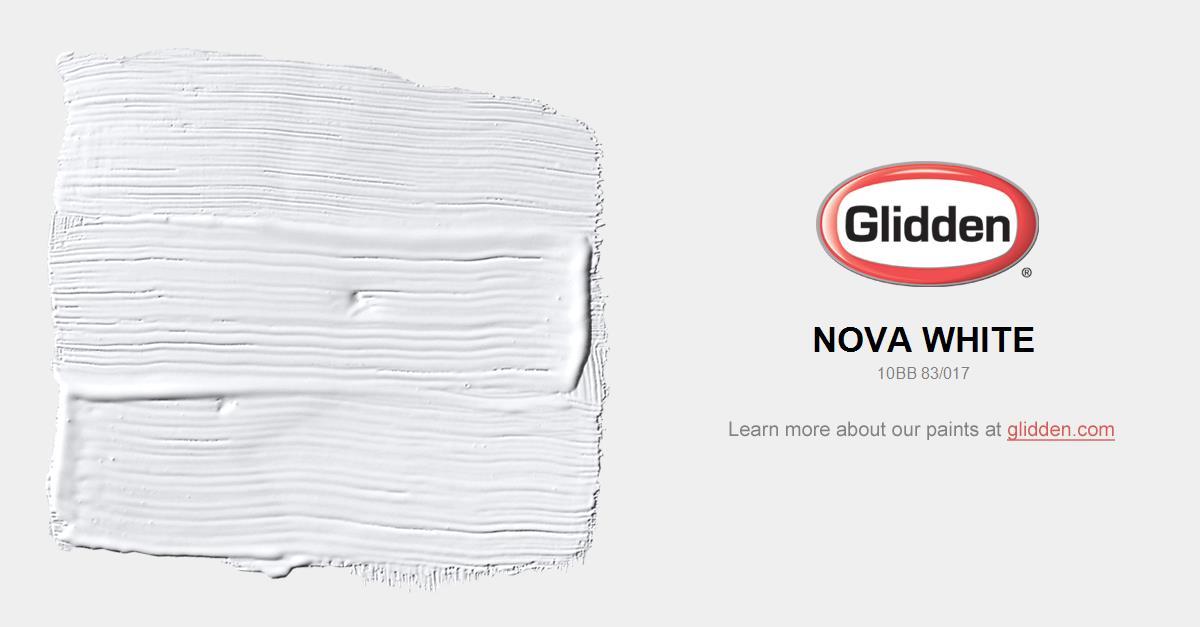 nova white paint color - glidden paint colors