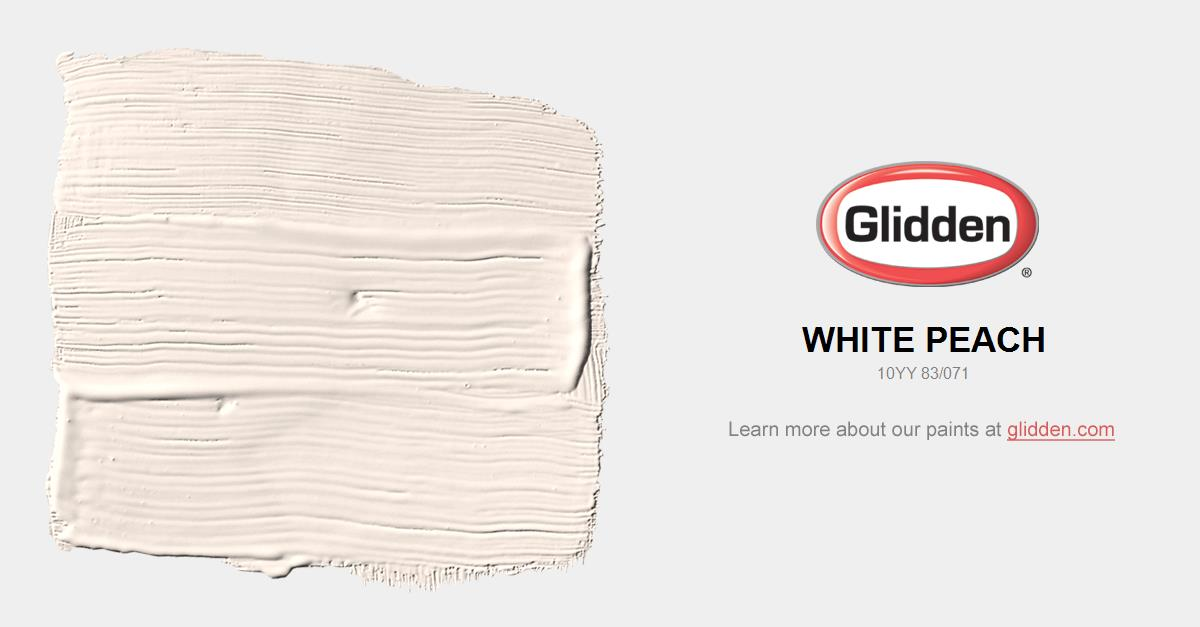 peach paint colorsWhite Peach Paint Color  Glidden Paint Colors