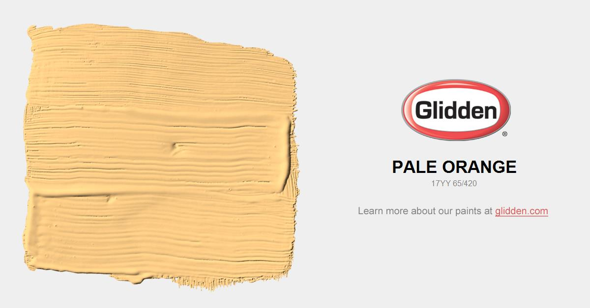 Pale Orange Paint Color Glidden Paint Colors