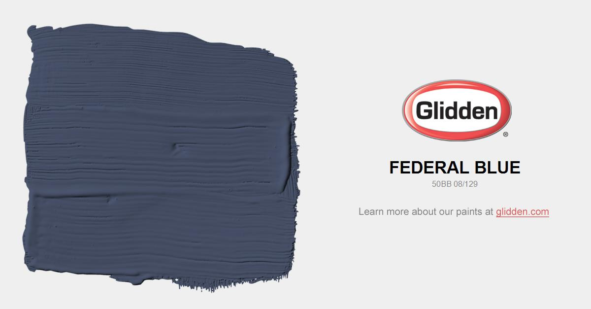 Federal Blue Paint Color Glidden Paint Colors