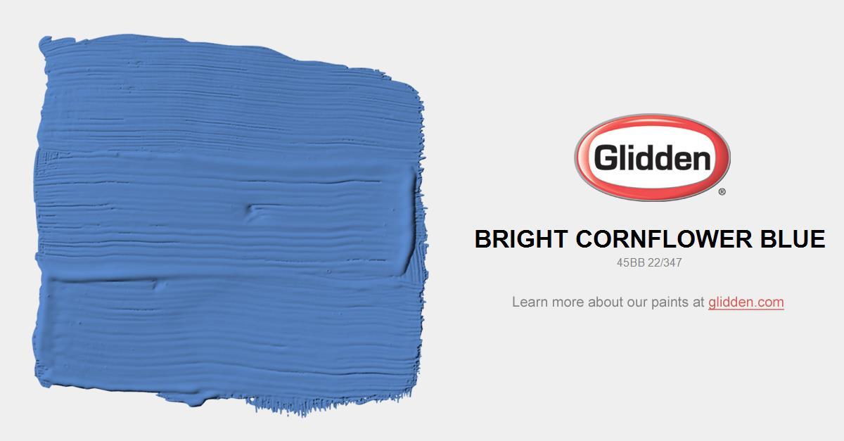 Bright Cornflower Blue Paint Color Glidden Paint Colors