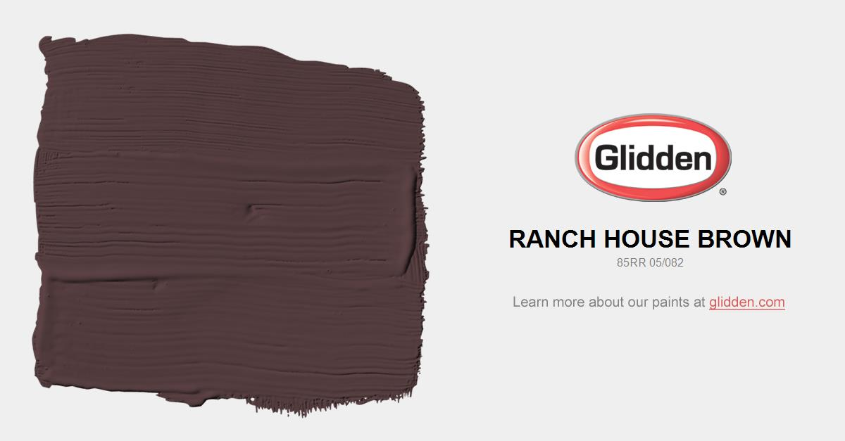 Ranch House Brown Paint Color Glidden Paint Colors