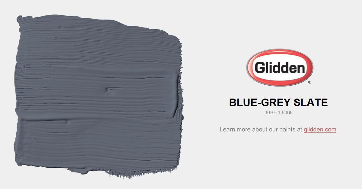 Blue Grey Slate Paint Color