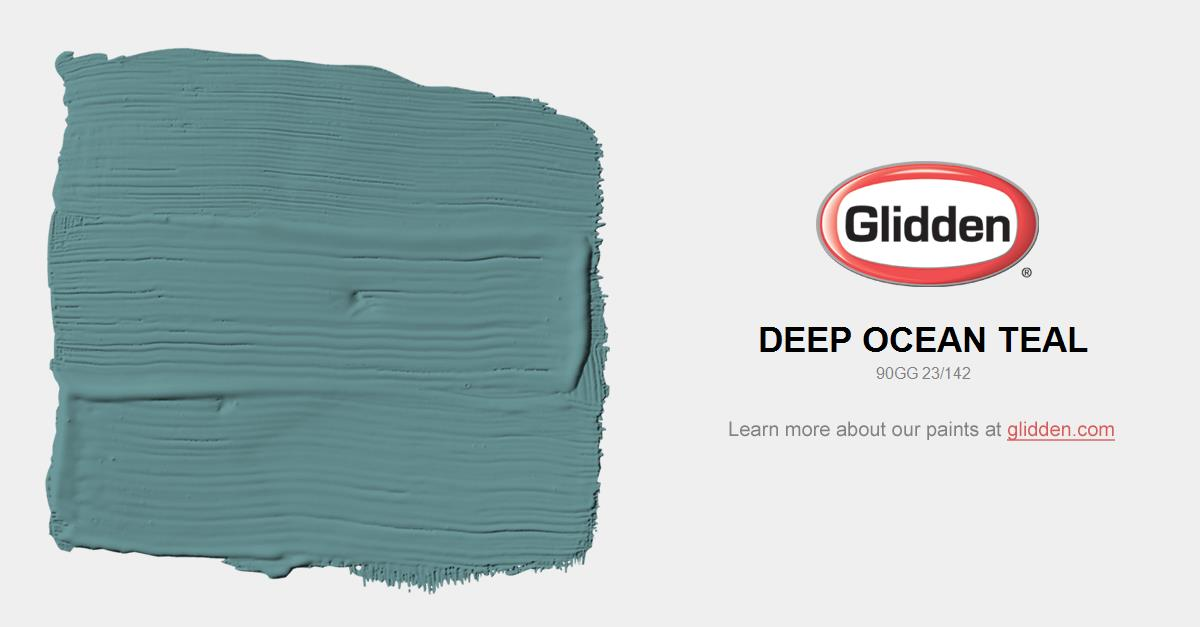 Deep Ocean Teal Paint Color Glidden Paint Colors